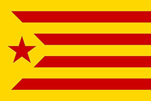 DURABOL Bandera de Inde.Catalan Estelada Vermella 150 x 90 cm SATIN Flag