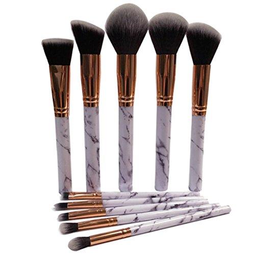 Amlaiworld bunt Marmor Kosmetik pinsels 10 Schmink bürsten mode Lidschatten make-up pinselset Augen...