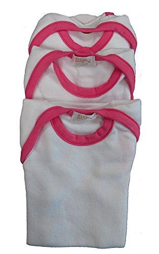 Zigozago - Ensemble de 3 pièces Body Bèbè à Manches Courtes pour bébé - Taille: 9 Mois- Couleur Rose - Coton Moelleux