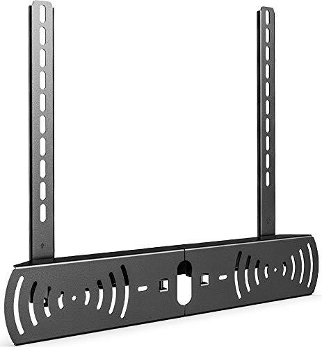 FITUEYES Universelle Soundbar-Halterung Auf einem TV-Ständer oder Einer TV-Halterung mit 2 Installationsdesigns installiert Für 130 mm-800 mm Soundbar für bis zu 10 kg. P-SB03MB
