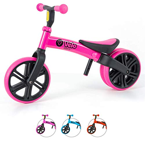 Yvolution Y Velo Junior Toddler Bike | No-Pedal Balance Bike | Ages 18 Months to 4 Years (Pink)