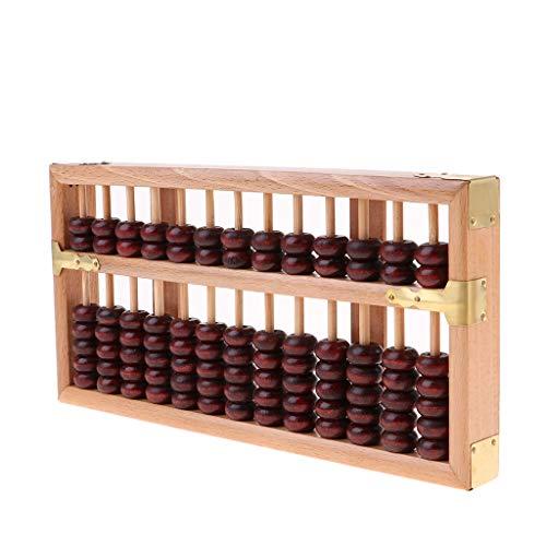 1 Stück Abakus Chinesisch Holz Abakus Arithmetik Soroban Vintage Berechnung Werkzeug - Holz, 24,6 x 12,2 cm