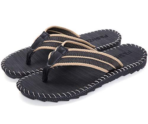 Zehentrenner Flip Flops Sports Surfen Sandalen Beach/Pool Pantoffeln rutschfest Sandaletten Herren Hausschuhe im britischen Stil Gr.39-45
