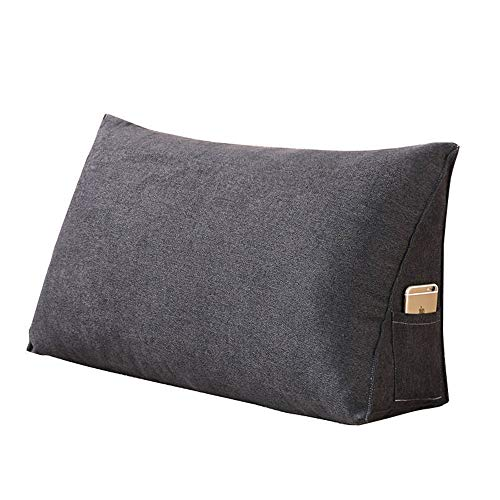 Lightweight Triangle Cushion Triangle Cushion Pillow Cushion Sofa Solid Color Cushion Back Cushion Blend Simple Safeguard Your Health (Color : Style1, Size : 70x35x20cm)