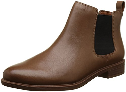 Clarks Damen Taylor Shine Kurzschaft Stiefel Chelsea Boots, Braun Tan Leatherther, 39 EU