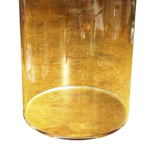 KUS Kunststofftechnik Plexiglas Plexiglasrohr XT ø 200/194 mm, L = 1000 mm / 1 Meter mit verklebtem Boden