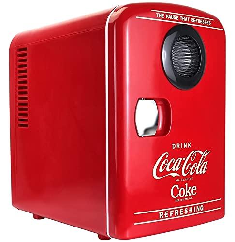 Coca Cola 12V Portable 4 Litre/6 Can Thermoelectric Mini Fridge...