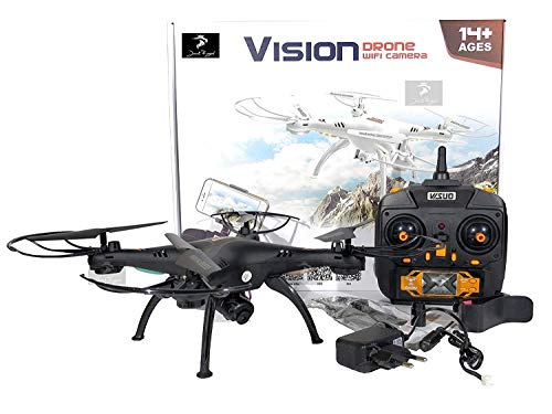 Jack Royal App Control Vision Drone with WiFi Camera and 360 Degree Rolling Action (Black)