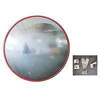 屋外高精細ロードミラー広角レンズ凸型ミラーコーナーミラー-圧縮性と耐衝撃性のPCミラー、取り付けが簡単-無料の取り付けアクセサリ (N45cm)