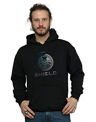 Marvel Herren Agents of S.H.I.E.L.D. Circuits Kapuzenpullover Schwarz Medium