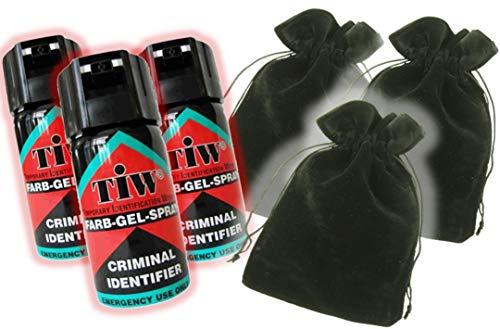 FARBGEL Criminal ID Spray/Self Defence Spray x3 with x3 Handmade BLACK...