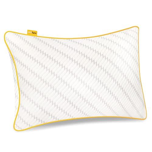 Cosi Home Geschreddertes Memory Foam Kissen zum Schlafen, Verstellbares Kopfkissen mit Bambus Kissenbezug & Kühleffekt, Schaumstoff Kissen für Rücken-, Bauch- und Seitenschläfer - Waschbar
