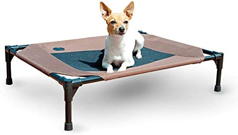 K H PET PRODUCTS Original Pet Cot Chocolate Mesh Medium 25 x 32 x 7 Medium 25 x 32 x 7 Model product image
