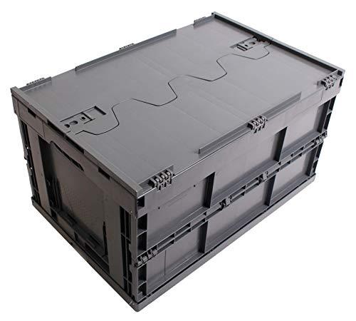 CAJA PLEGABLE CON TAPA 61L, caja plegable de plastico, caja de transporte,...