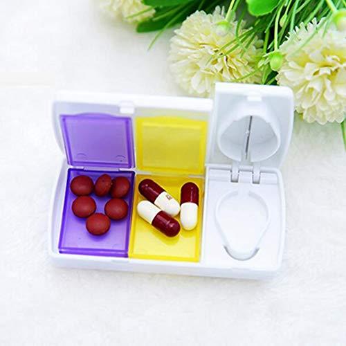Pill Cutter Splitter,The Best Pill Splitter for Small Pills,Pill Splitter with Retracting Blade Guard,Pill Cutter and Splitter with Safe Shield for Small or Large Pills