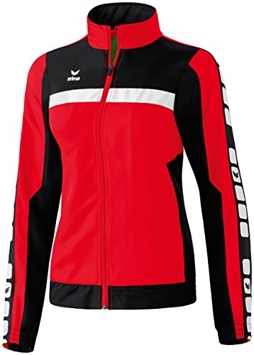 Erima Damen Classic 5-C Jacke Sports-/Präsentationsjacke, rot/schwarz/weiß, 42