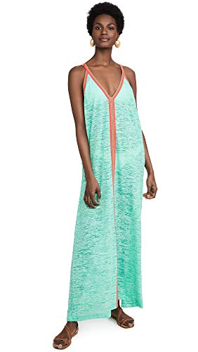 Pitusa Women's Sun Maxi Dress, Mint, Green, One Size