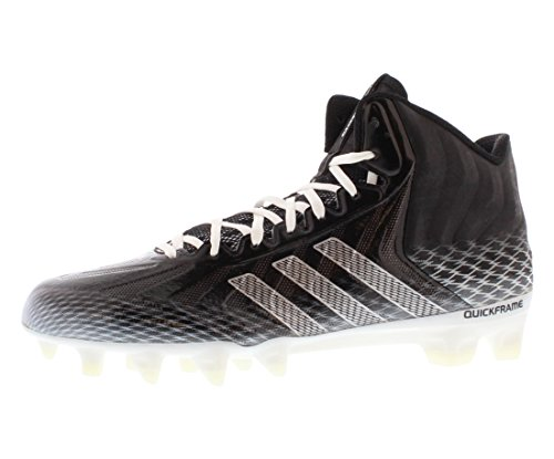 adidas Crazyquick Mid Men's Football Cleats (11, Black/Running White/Running White)