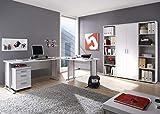 storado.de Arbeitszimmer Möbel komplett Set Büro Büromöbel Office Line 5 TLG Set 1 Weiss