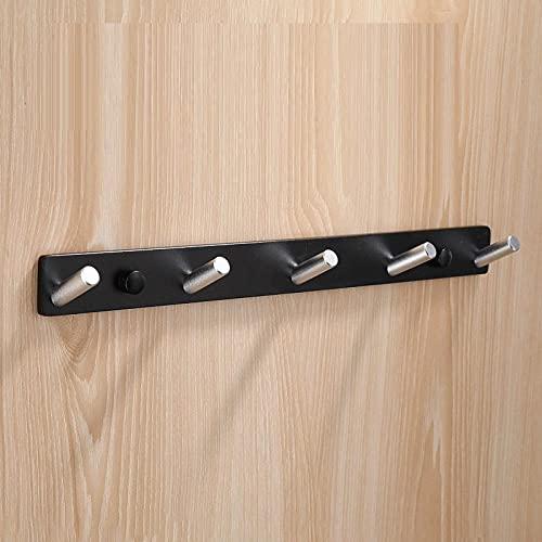Espacio aluminio negro plata café oro oblicuo gancho abrigo montado en la pared gancho de gancho dormitorio dormitorio gancho de la sala de estar-C3 simple y elegante combina con el estilo moder