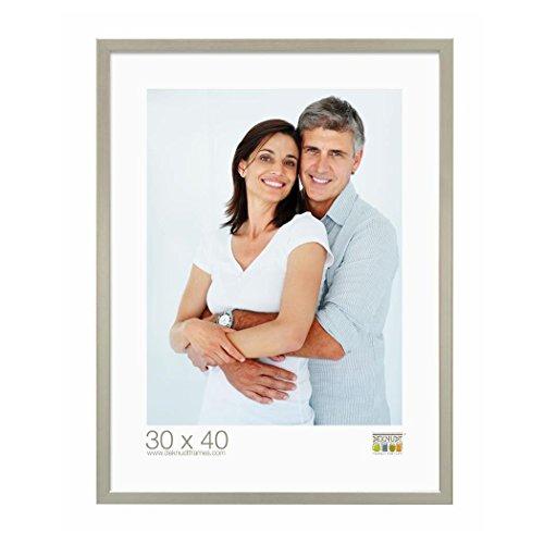 Deknudt Frames S41JD1-21.0X29.7 Bilderrahmen, Holz, schmal, 32 x 23 x 1,85 cm, silberfarben
