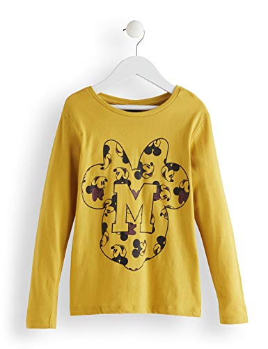 Amazon-Marke: RED WAGON Mädchen Minnie Mouse Langarmshirt, Gelb (Nugget Gold), 104, Label:4 Years