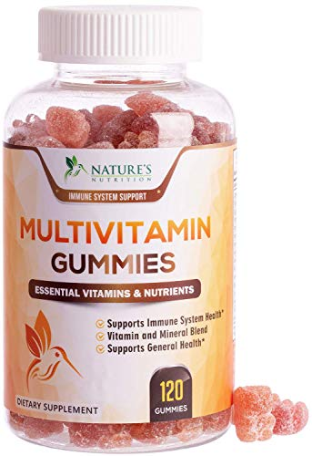 Multivitamin Adult Gummies Extra Strength Vitamin Gummy - Natural Complete Daily Supplement - Vegetarian Multi with Vitamins A, C, E, B6, B12 for Men and Women, Non-GMO - 120 Gummies
