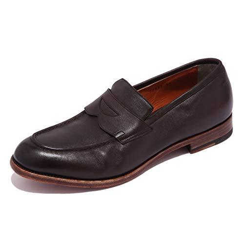 Santoni 5294AB Mocassino Uomo Vintage Effect Brown Shoe Men [9]