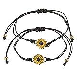 Handmade Promise Bracelets Matching Friendship Bracelet Gift for Women Girls Couples Best Friends - Brown