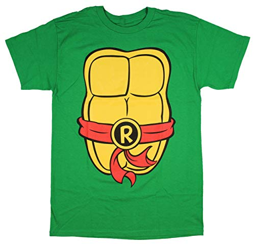 Teenage Mutant Ninja Turtles TMNT Mens Costume T-Shirt (Medium, Raphael) by Nickelodeon