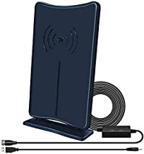 Digital HD TV Antenna, JoyGeek Indoor HDTV Antenna 160 Miles Long- Range Reception with Amplifier Signal Booster, Support 4K HD UHF VHF Local Channels-16.5 ft Coax Cable