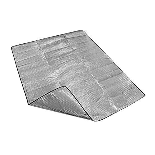 SONG Camping-Matte, wasserdichte Aluminiumfolie-Camping-Matte Faltbares Falten-Schlaf-Picknick-Strand-Matratze Outdoor-Mat-Pad (Color : 100x200CM)