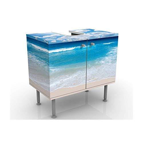 Apalis Waschbeckenunterschrank - Touch of Paradise - Maritim Badschrank Blau, Größe: 55cm x 60cm