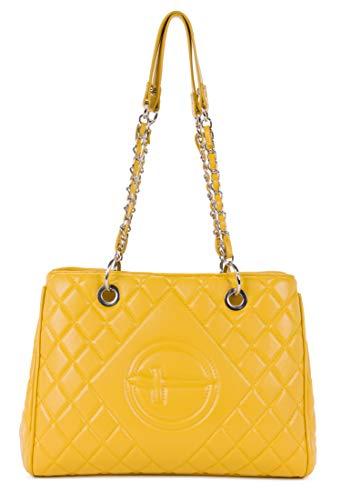 Tamaris Shopper Aida 30220 Damen Handtaschen Karo yellow 460One Size