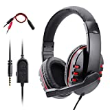 Cuffie Gaming per PS4 Xbox One, Dhaose Cuffie Auricolari Stereo con Microfono e Cancellazione del Rumore in Ingresso, Controllo del Volume, …