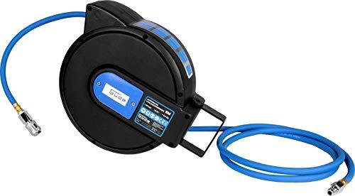 Güde 02878 Automatik Druckluftschlauch Schlauchtrommel Plus Guede Automatikschlauchtrommel Farbe:blau/schwarz Lxbxh: 320x127x245 Güde Schlauchwagen Gartenschlauch Schlauch