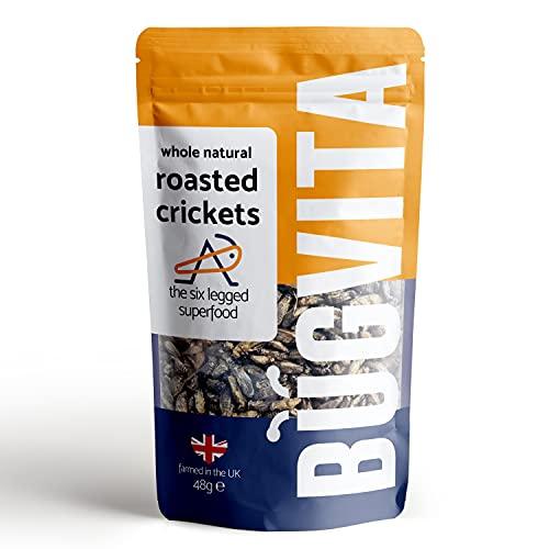 Crunchy Whole Roasted Crickets 48g | Farmed in The UK | Six-Legged...