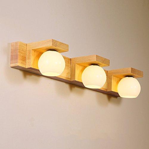 Apliques para baño Espejo de Madera Maciza Faros Simple Chino Moderno salón lámpara de Pared Dormitorio cabecera lámpara de Madera llevó lámparas de Madera