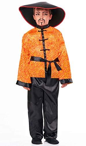 Disfraz de Chino Rojo con Estampado para niño