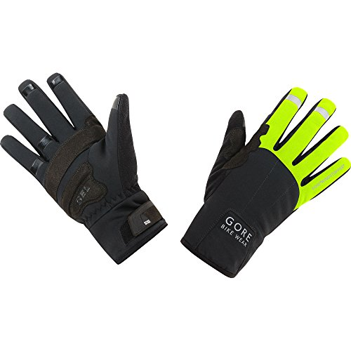 GORE RUNNING WEAR Universal Windstopper Thermo Guantes, Hombre, Neon Yellow/Black, 7