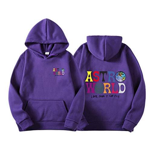 Yesgirl Travis Scott Astroworld Wish You Were Here Sweats À Capuche Mode Hoodie Streetwear Femme Homme Pullover Sweatshirt Unisex Tops Violet M