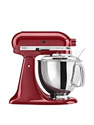 Read KitchenAid KSM150PSER Artisan Stand Mixer with stainless steel bowl