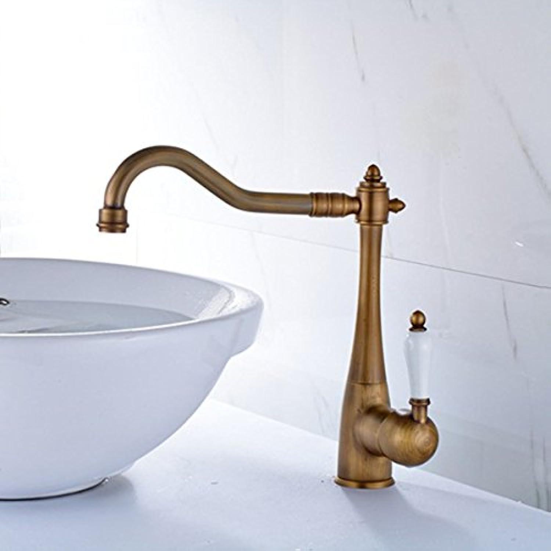 Xicaimen Wasserhahn Bad Waschtischarmatur Mischbatterie Messing Messing Einhebel Einhebel Antik Heies und kaltes Wasser Waschtischmischer Bad Armatur für Badezimmer Waschbecken Brass Body