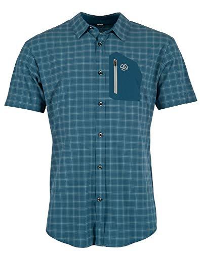 Ternua Athy Camisa, Hombre, Dark Lagoon Checks, M
