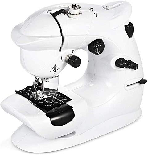 FTYUNWE Mini Elektrische Nähmaschine Tragbare Haushaltsnähmaschine Anfänger Schneider Free-Arm Crafting Reparaturmaschine