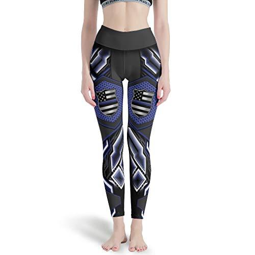 LPLoveYogaShop Leggings para mujer con diseño de bandera americana, para cosplay, transpirable, para yoga, pilates, gimnasia, etc. blanco XL