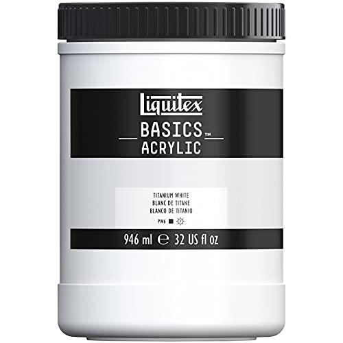 Liquitex BASICS Acrylic Paint, 32-oz jar, Titanium White