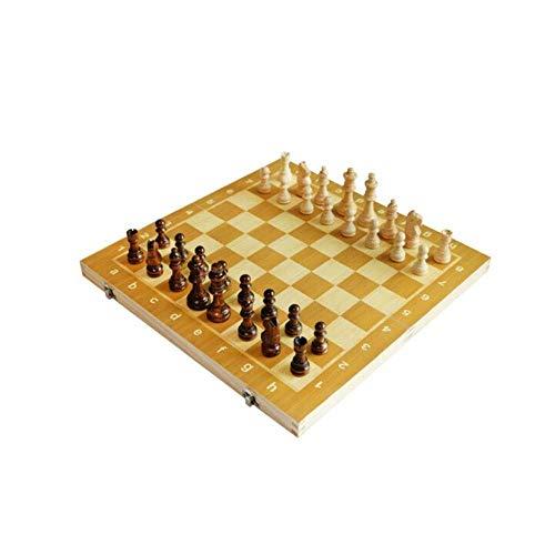 YAMMY Juego de Tablero de ajedrez Internacional, magnético, Tablero para niños Piezas de Madera Hechas a Mano de Calidad Completo Compatible con Fide Estimula tu Cerebro Ejercicio (Juegos de ajedrez)
