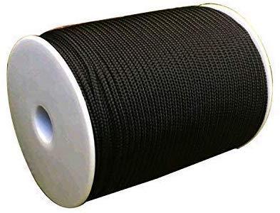 WedDecor 3mm Large Nylon Tressé Cordon pour Aluminium Store Ton, Jardinage Plante et Loisirs Créatifs, Gear Faisant, Réparation Nuances, 5 Mètres de Long, Noir - Blanc, 10 Metres