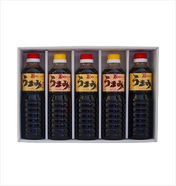 カネイ醤油 うまみ 500mlペットボトル(こいくち3本・うすくち2本)セット[PT-422]